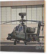 Ah-64d Apache Longbow At Pinal Airpark Wood Print