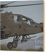 Ah-64d Apache Longbow Lifts Wood Print