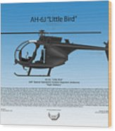 Ah-6j Little Bird Wood Print