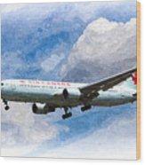 Air Canada Boeing 767 Art Wood Print