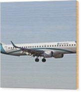 Air Dolomiti, Embraer Erj-195 Wood Print