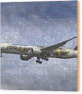 Air New Zealand Hobbit Boeing 777 Art Wood Print