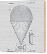 Airship Patent 1913 Wood Print
