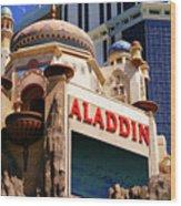 Aladdin Hotel Casino Wood Print