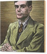 Alan Turing, British Mathematician Wood Print by Bill Sanderson