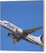 Alaska Airlines 737-800 Wood Print