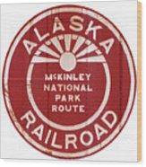 Alaska Railroad Aged Wood Print