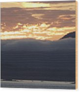 Alaskan Coast Sunset, View Towards Kosciusko Or Prince Of Wales  Wood Print