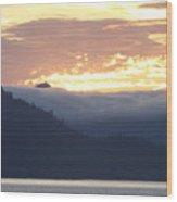 Alaskan Coast, View Towards Kosciusko Or Prince Of Wales Islands Wood Print