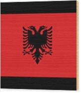 Albania Flag Wood Print