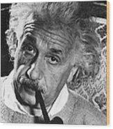 Albert Einstein (1879-1955) Wood Print