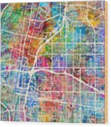 Albuquerque New Mexico City Street Map Wood Print