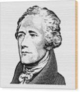 Alexander Hamilton - Founding Father Graphic  Wood Print