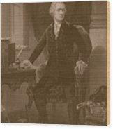 Alexander Hamilton Wood Print