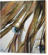 Alex's Eyes Wood Print by Cheryl Dodd