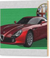 Alfa Romeo Zagato  T Z 3  Stradale With 3 D Badge  1 Wood Print