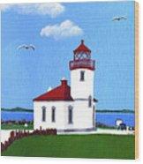Alki Point Lighthouse Wood Print