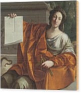 Allegory Of Geometry Wood Print