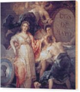 Allegory Of The City Of Madrid Wood Print