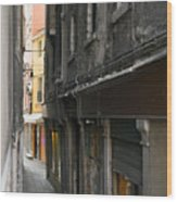 Alley #10, Venice Wood Print