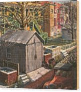 Alley With Ashpits Wood Print