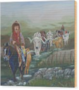 Along The Bozeman Trail Wood Print