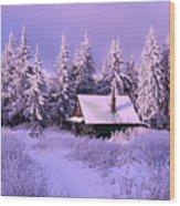 Alpine Hideaway Wood Print