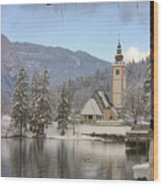 Alpine Winter Clarity Wood Print