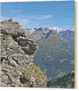 Alps Mountain Landscape  Wood Print