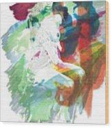 Amani African American Nude Fine Art Painting Print 4974.03 Wood Print