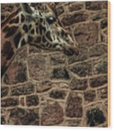 Amazing Optical Illusion - Can You Find The Giraffe Wood Print