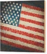 America Flag Wood Print by Setsiri Silapasuwanchai