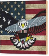 American Eagle Wood Print