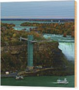 American Falls Niagara Wood Print