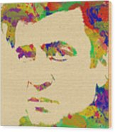 American Legend Johnny Cash Wood Print