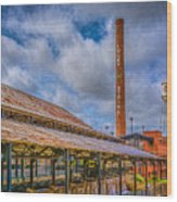 American Tobacco Campus Wood Print