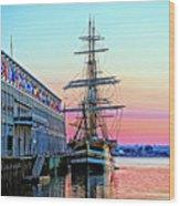 Amerigo Vespucci Tall Ship Wood Print