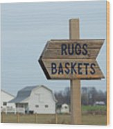Amish Sign Wood Print
