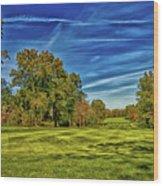 An Autumn Golf Day Wood Print