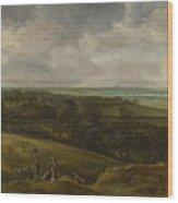 An Extensive River Landscape Wood Print