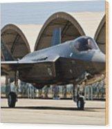An F-35 Lightning II Taxiing At Eglin Wood Print