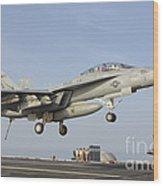 An Fa-18e Super Hornet Makes An Wood Print