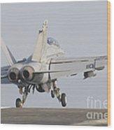 An Fa-18f Super Hornet Taking Wood Print