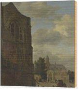 An Imaginary View Of Nijenrode Castle Wood Print
