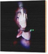 An Obscene Hand Sign Wood Print