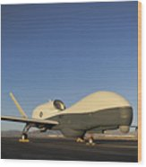 An Rq-4 Global Hawk Unmanned Aerial Wood Print