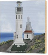 Anacapa Lighthouse California Wood Print
