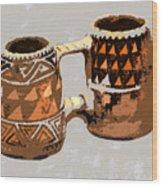 Anasazi Double Mug Wood Print