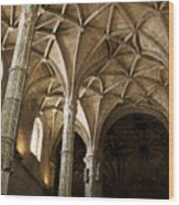 Lisbon Cathedral's Ancient Arches  Wood Print