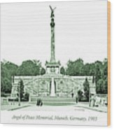 Angel Of Peace Memorial, Munich, Germany, 1903 Wood Print